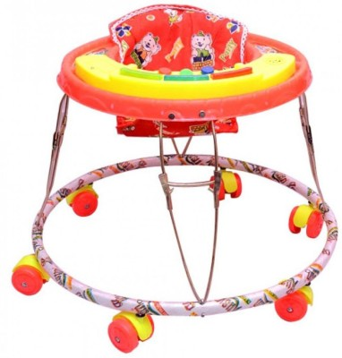 Kusum Enterprises Red Musical Tiger Baby Walker