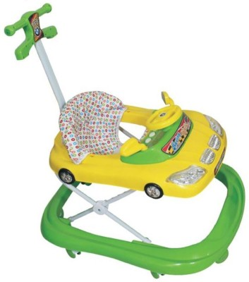 Panda Baby Yellow & Green Car Walker with handle