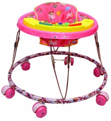 Kusum Enterprises Pink Musical Tiger Baby Walker