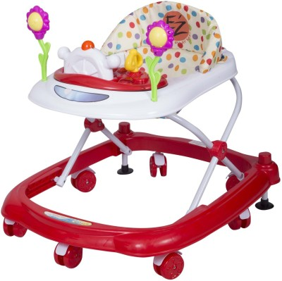EZ, PLAYMATES HAPPY BABY WALKER WHITE/RED