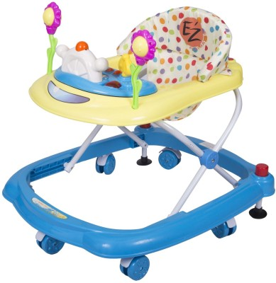 EZ, PLAYMATES HAPPY BABY WALKER BLUE/YELLOW