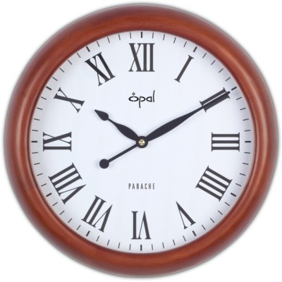 Opal Analog Wall Clock(White, With Glass)