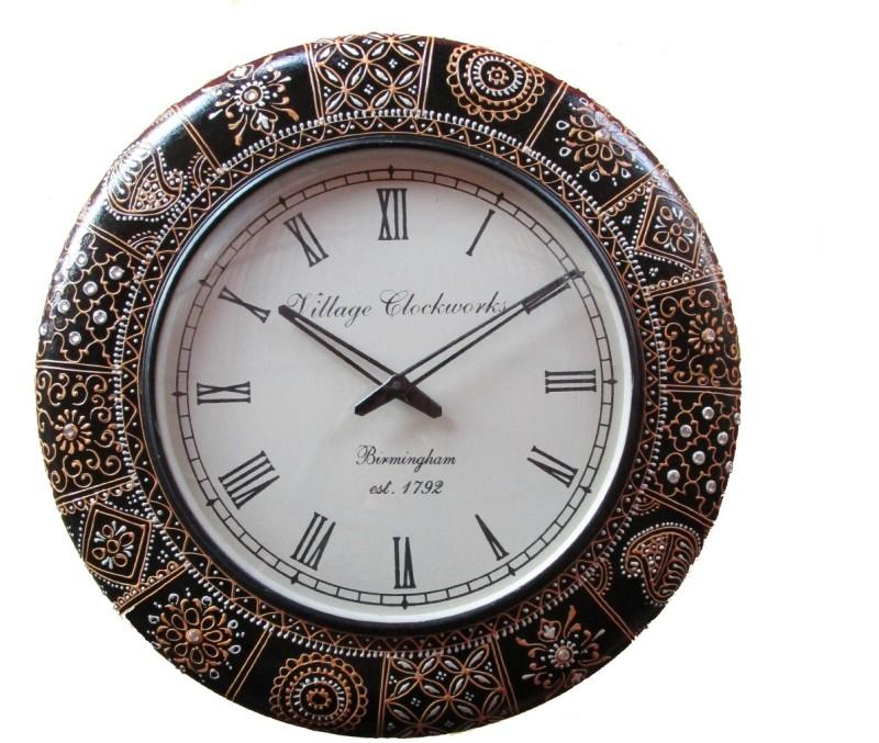 Rajwadi Kala Analog 30 cm Dia Wall Clock Rajwadi Clock 028 Round Shape