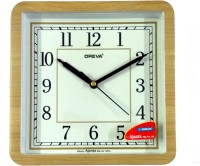 AJANTA OREVA Analog Wall Clock(BROWN WOOD, With Glass)