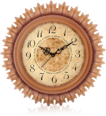 Fiesta Steven1818 Oak Wood Brown Color Decorative Analog 46 cm Dia Wall Clock
