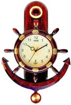 Cedar Mediterranean Style Anchor Analog Wall Clock