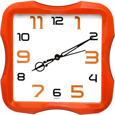 Wallace Avio617 Orange Trendy Analog Wall Clock