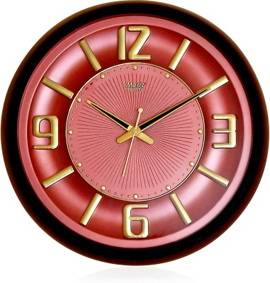 Fiesta Matiz Copper Red Color Analog 38 cm Dia Wall Clock