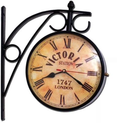 Being Nawab Analog Wall Clock(Black, With Glass)