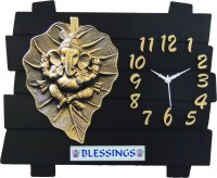 feelings Analog Wall Clock(Black, Without Glass)