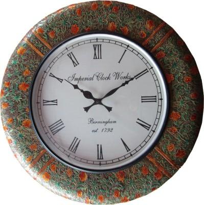 Rajwadi Kala Analog 30 cm Dia Wall Clock
