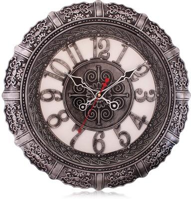 Fieesta 7157 Silver Color Designer Analog 43 cm Dia Wall Clock