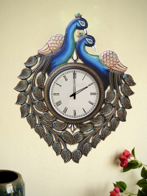 Marwar Stores Analog Wall Clock(Multicolor, With Glass)