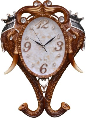 Wallace Royal Elephant Design Analog 57 cm Dia Wall Clock