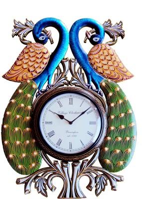 Rajwadi Kala Analog 20 cm Dia Wall Clock