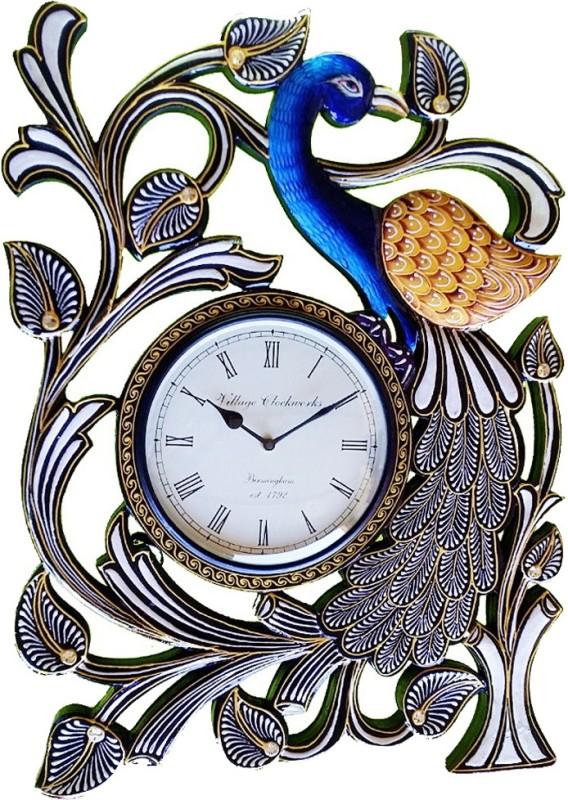 Rajwadi Kala Analog Wall Clock Clock 014 Single Peacock