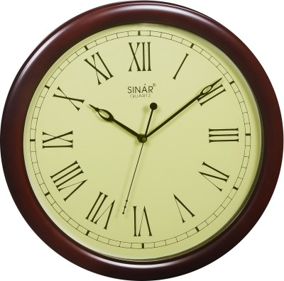 Sinar SQ-7697-R Analog Wall Clock (Brown)