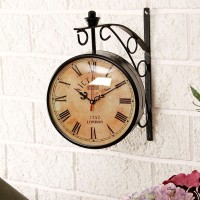 Swagger Analog Wall Clock(Black, With Glass)