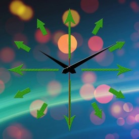 Yes Celebration Analog Wall Clock(Multicolor, Without Glass)