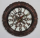 Antique Analog Wall Clock (Brown, With G...