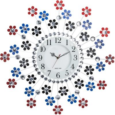 Wallace Victor111 Decorative Petal Design Metal Glass Analog 58 cm Dia Wall Clock