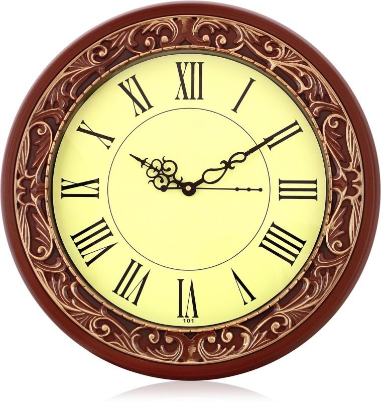 Arete Sonic101 Brown Roman Numeral Analog 36 cm Dia Wall Clock sonic101-brown-romanfig