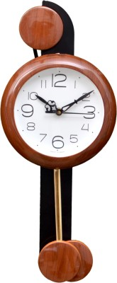 Wallace 707-Brown Designer Pendulum Analog 48 cm Dia Wall Clock