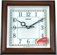 OREVA AJANTA Analog Wall Clock(BROWN WOOD, With Glass)
