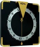 Home Analog Wall Clock (Black & Golden, ...
