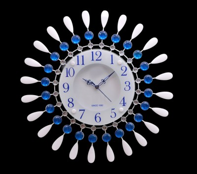 Wallace 213Metal-Glass Crystal Designer Analog 48 cm Dia Wall Clock