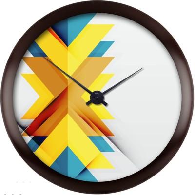 Bright Orange Analog Wall Clock