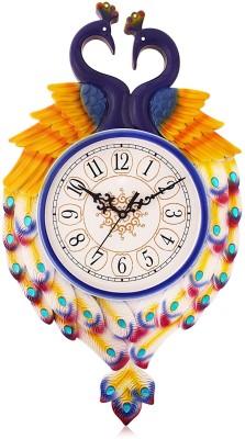 Fieesta Dollar785 Blue Peacock Design Analog Wall Clock