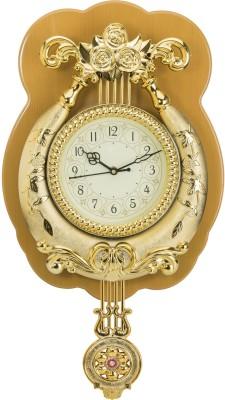 Wallace Yash1550-Biscuit Gold Designer Pendulum Analog 41 cm Dia Wall Clock