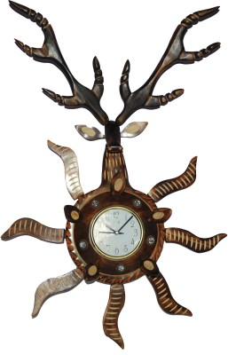 Indoart Analog 36 cm Dia Wall Clock