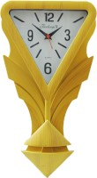 Feelings Pendulum Analog Wall Clock(Wooden Color, With Glass)