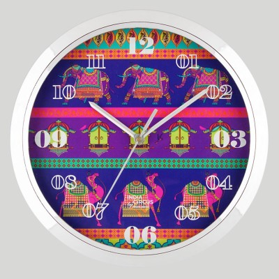 India Circus Analog Wall Clock