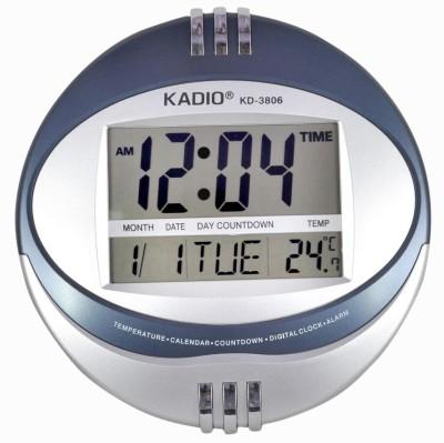 Fieesta Kadio3806 Jumbo LCD Display Digital 21 cm Dia Wall Clock