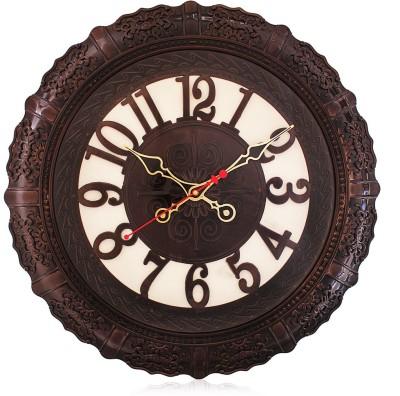 Fieesta 7157 Mahogany Red Color Designer Analog 43 cm Dia Wall Clock