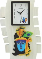 Feelings Celebrations Analog Wall Clock(Off White, With Glass)