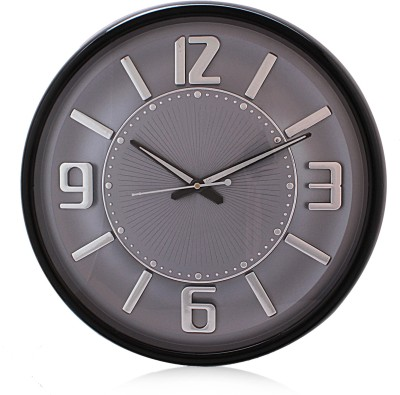 Fiesta Matiz Grey Color Analog 38 cm Dia Wall Clock