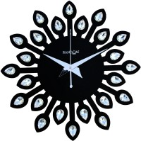 Random Analog 30 cm Dia Wall Clock(Black, Without Glass)