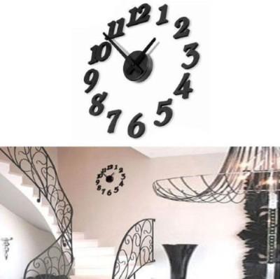 Sangaitap 3D Analog 25 cm Dia Wall Clock