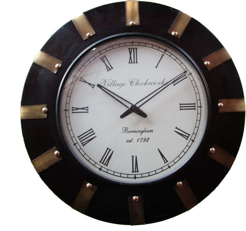 Rajwadi kala Analog 30 cm Dia Wall Clock Rajwadi Clock 029 Round Shape