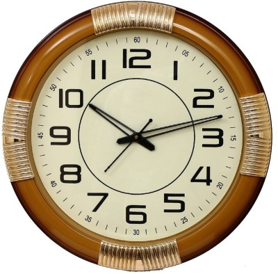 Wallace Spice1317-MiddleBuff Color Designer Analog 40 cm Dia Wall Clock