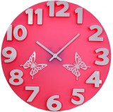 YourChoice Analog Wall Clock (Pink, With...