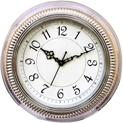 Wallace Spice1507 Silver Trendy Analog 35 cm Dia Wall Clock