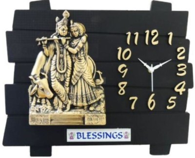 Ravishing Blessings Radha Krishna Analog Wall Clock