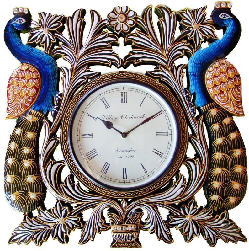 Rajwadi_Kala Analog Wall Clock Rajwadi Clock 005 Double Peacock