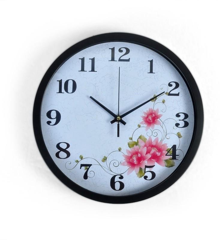 Cortina Analog Wall Clock(White, With Glass)