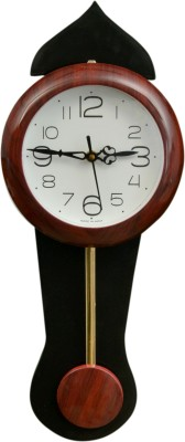 Wallace Avio717-PP Brown Pendulum Analog 43 cm Dia Wall Clock